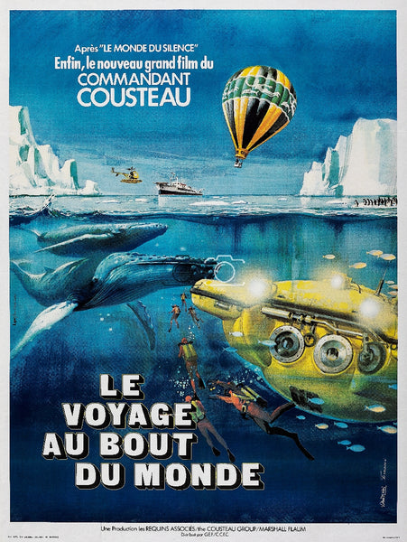 COMMANDANT COUSTEAU FILM Rchj-POSTER/REPRODUCTION d1 AFFICHE VINTAGE