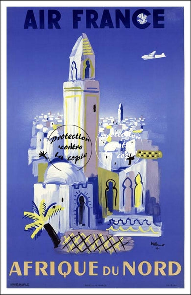 "AIR France © POSTER/AFFICHE 50x70cm : ""NORTH AFRICA, MINARET"""