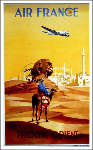 "AIR France © POSTER/AFFICHE 50x70cm : : ""NEAR ORIENT"" (Rf103)"