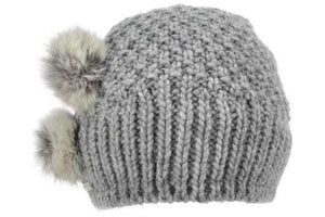 Seeberger Beanie with Rabbit Fur