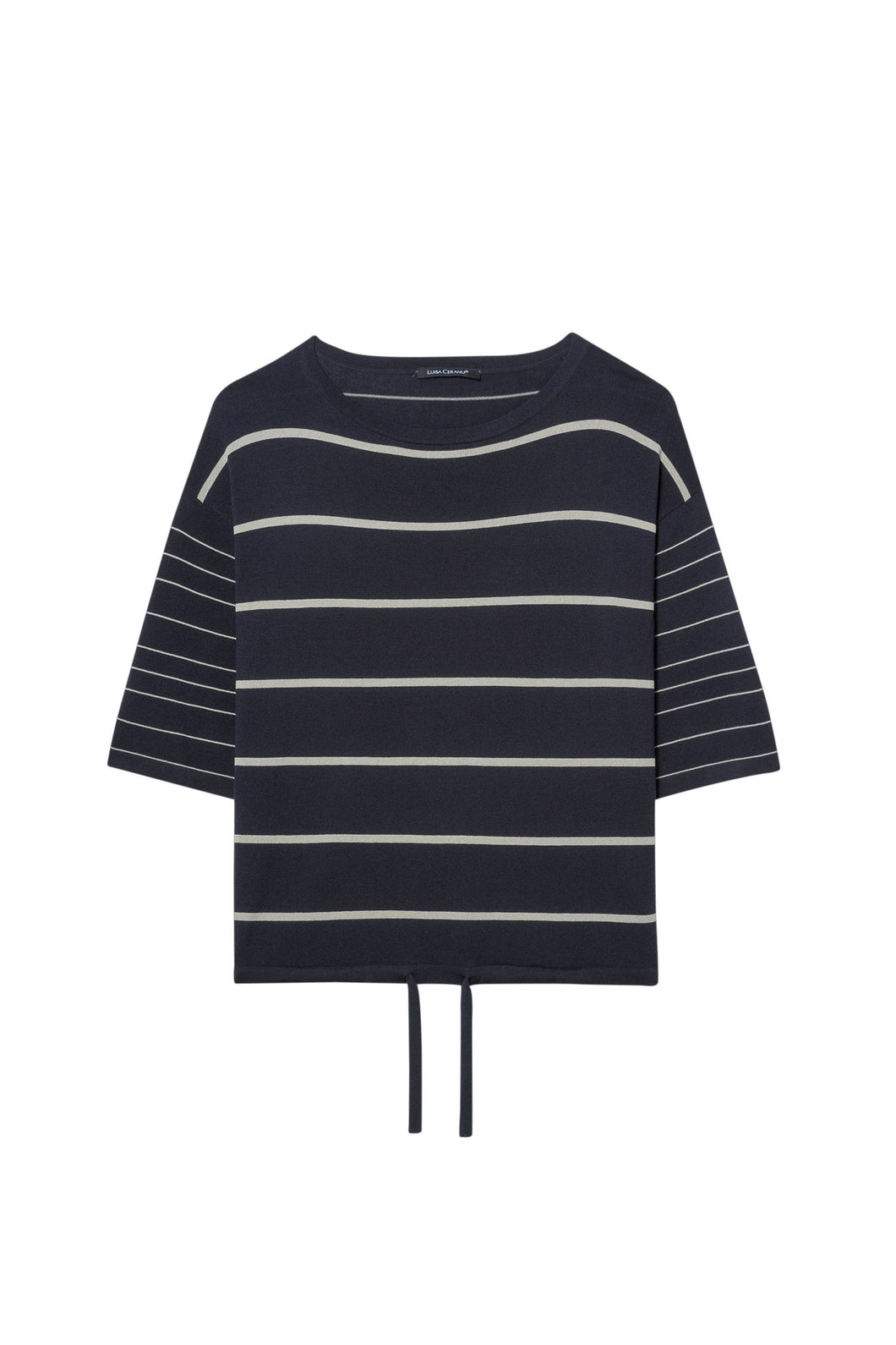 Navy striped sweater