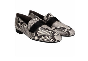Snake print loafers