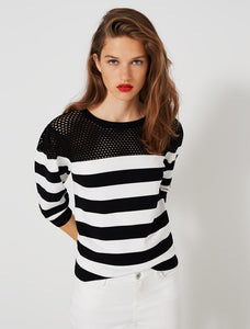 Risico black and white jumper
