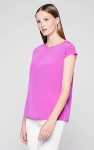 Escada Silk cap-sleeved top
