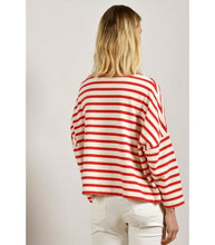 Load image into Gallery viewer, Mat de Misaine Red striped sweatshirt