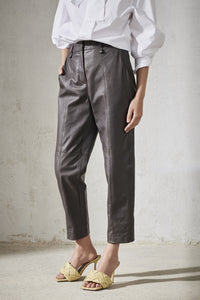 Luisa Cerano Imitation Leather Trousers
