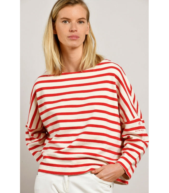 Mat de Misaine Red striped sweatshirt