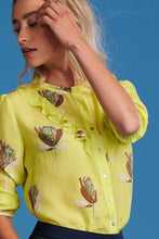Load image into Gallery viewer, Pom artichoke lemon blouse