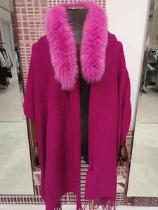 Lea Clement Scarf in Fuschia Pink
