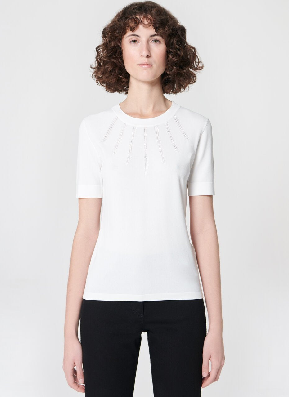 Escada Off White round neck top
