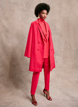 Load image into Gallery viewer, Pink wool coat