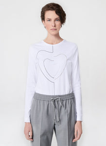 Escada Embroidered Cotton Stretch Tee-Shirt