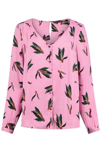 Pom festival feathers Blouse