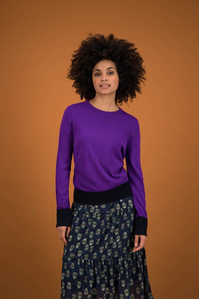 Pom royal purple sweater