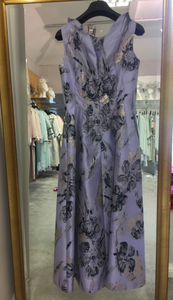 Fely Campo purple and gold printed dress