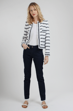Load image into Gallery viewer, Cathia Striped tweed jacket