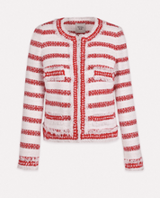 Load image into Gallery viewer, Red Cathia Striped tweed jacket