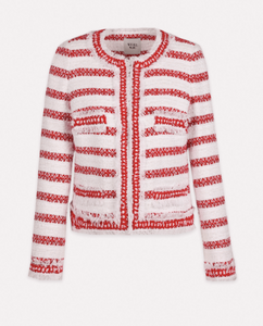 Red Cathia Striped tweed jacket