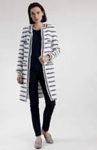 Load image into Gallery viewer, Long striped tweed jacket