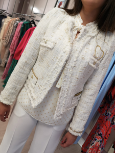 Gold and cream tweed jacket