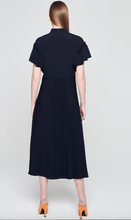 Load image into Gallery viewer, Navy silk midi