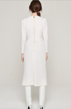 Load image into Gallery viewer, Escada Wool Crepe Midi Dres