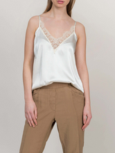 Load image into Gallery viewer, Satin top with lace