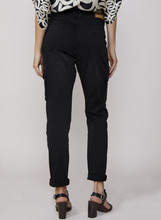 Load image into Gallery viewer, Black cargo trousers