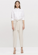 Load image into Gallery viewer, Tapered trousers with tie belt