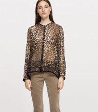 Load image into Gallery viewer, Silk animal print blouse