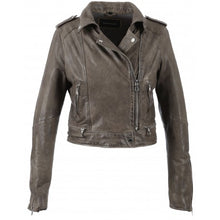 Load image into Gallery viewer, Oakwood Kyoto  GREY - WASHED LOOK GENUINE LEATHER JACKET
