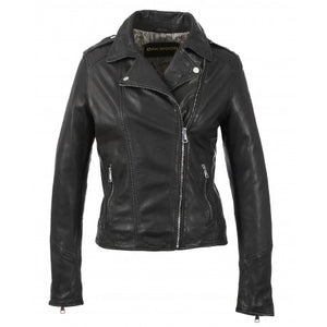 Oakwood Palm Black Genuine Leather Jacket