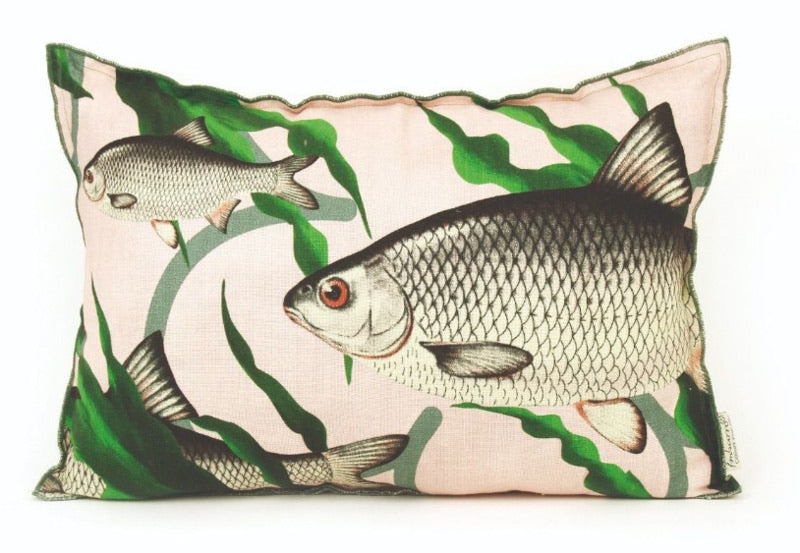 Imbarro Kussen Fishes together - Roze 40x60cm