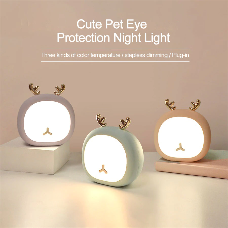 Cute Night Light - Deer & Bunny
