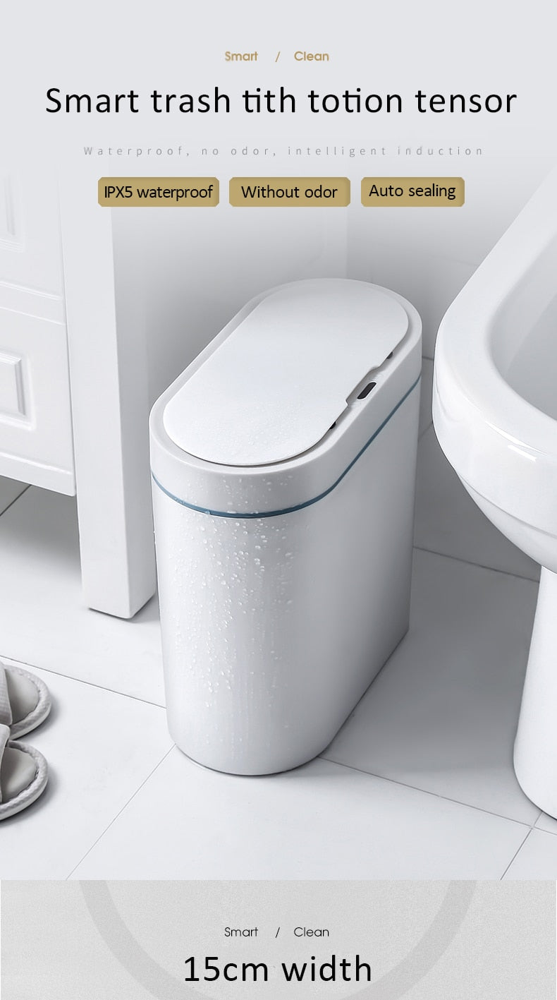 Smart Sensor Trash Can - Household Bathroom Toilet Waterproof
