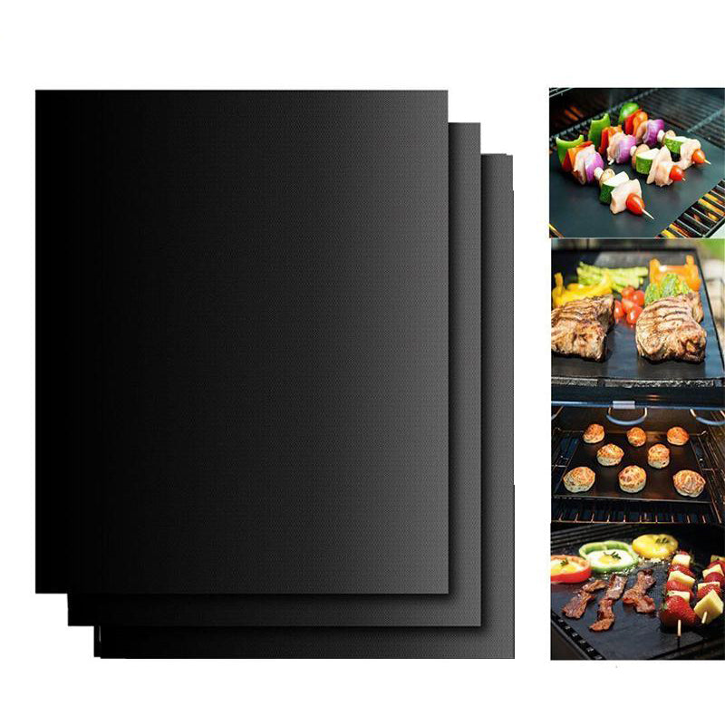 3pcs Reusable Non-Stick BBQ Grill Mat