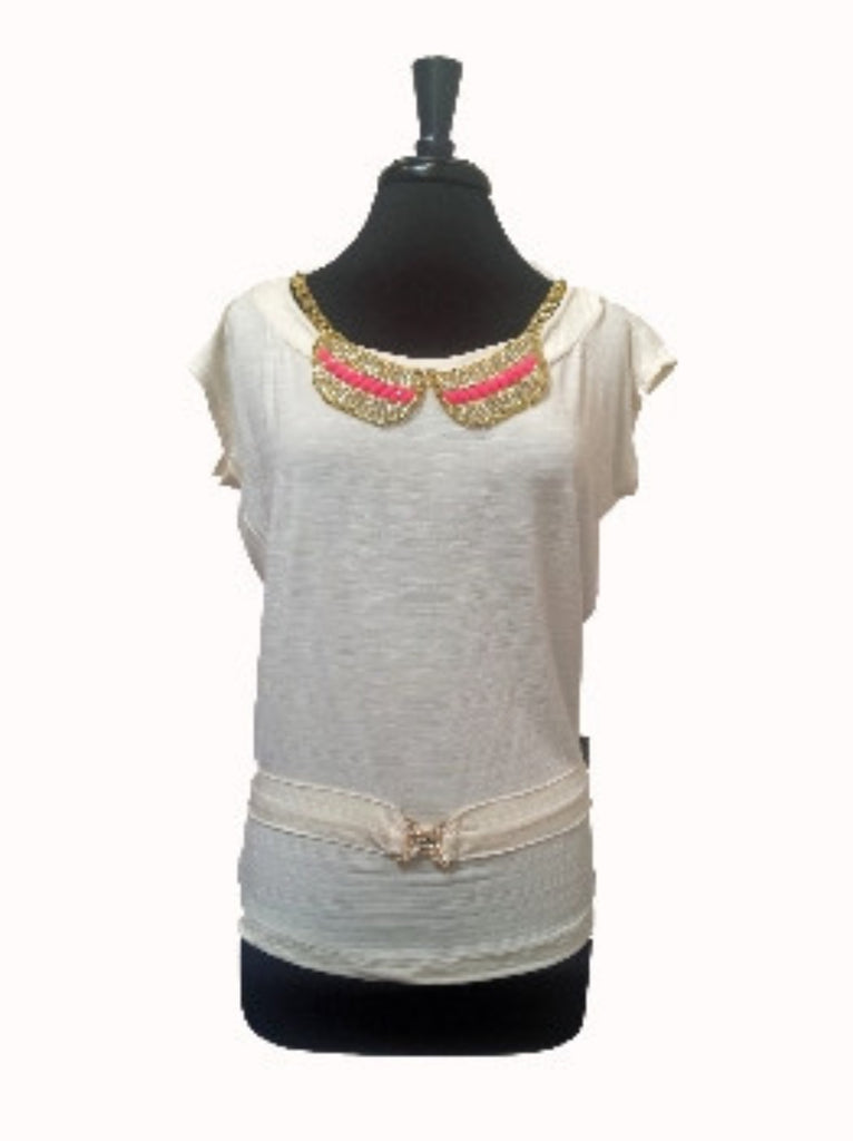 girly top cream - SOLD OUT