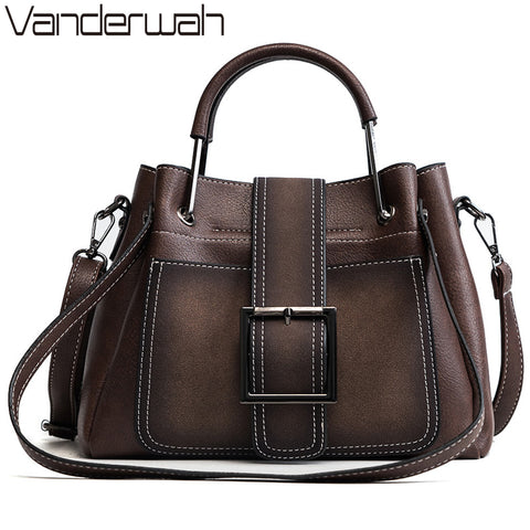 Ladies Metal Hand Bags Soft Pu Leather Shoulder Bags