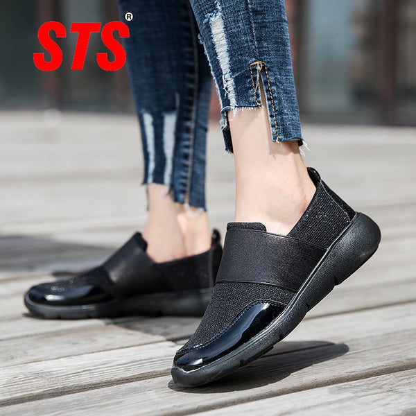 STS Women's Casual Flats Shoes Fashion Sport Shoe Breathable