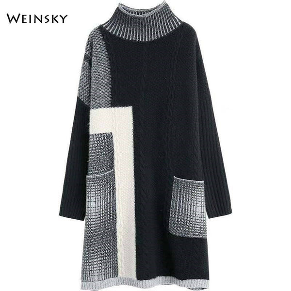 Women Knitted Turtleneck Sweater And Pullovers