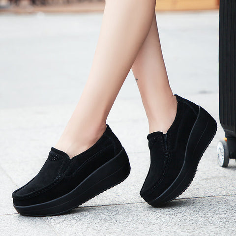 2020 spring women flat platform shoes