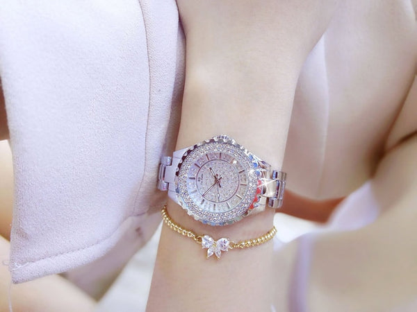 Women Watches Gold Luxury Brand Diamond Quartz Ladies Wrist Watches Stainless steel Clock Female Watch relogio feminino 2020