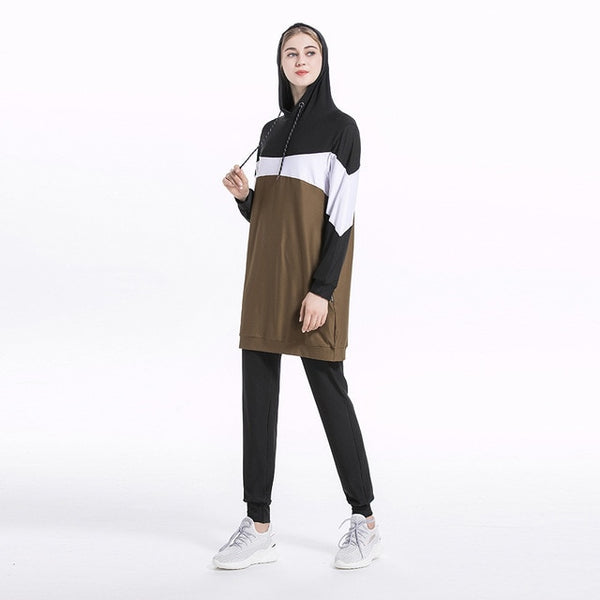 Muslim Sportswear  Tracksuit Clothes Suit Set Girls Plus Size بدلة رياضية مقاسات كبيرة