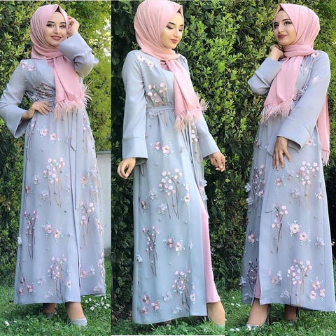 Muslim Cardigan Hijab Dress Turkish Islamic Clothing Abayas For Women