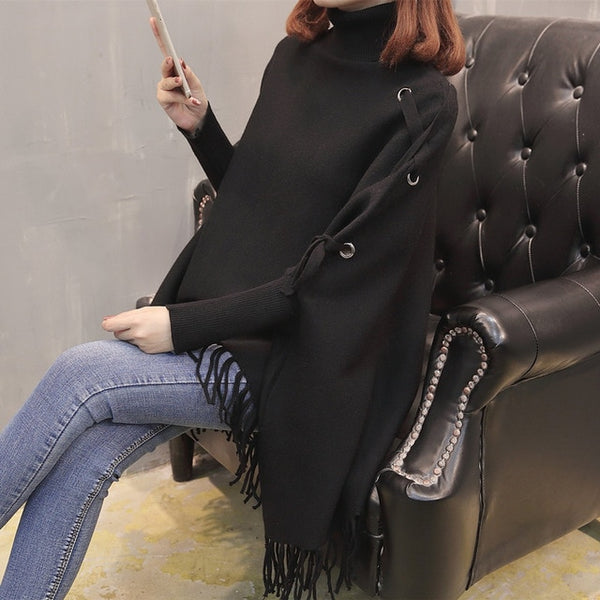 Fashion Women Loose Cloak Sweater