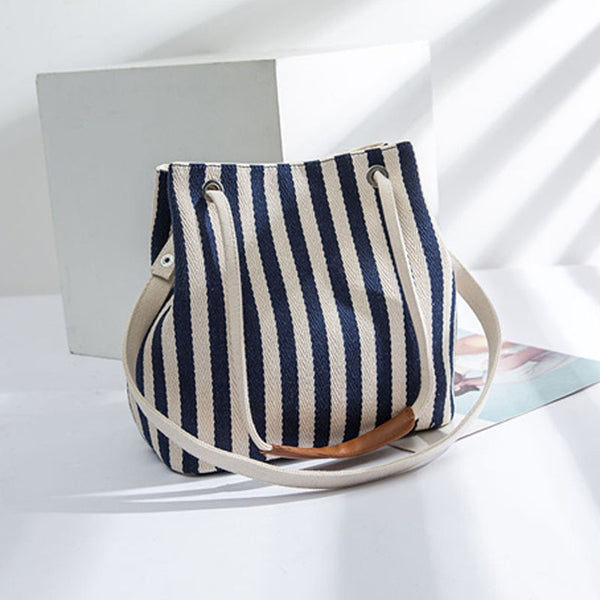 Quality Women Striped Handbag