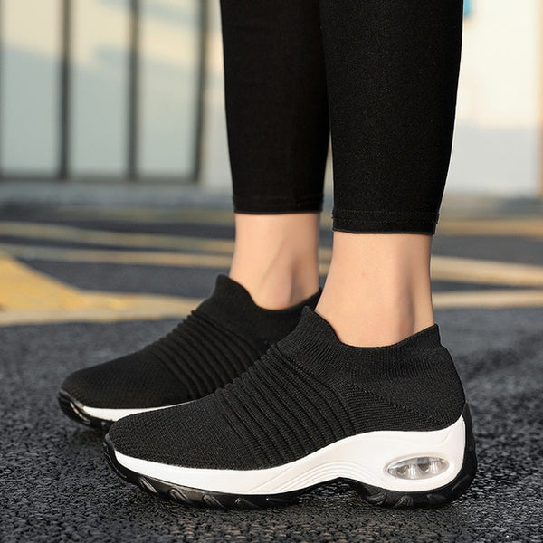 2020 New Low-Top Sneakers Air Cushion Shoes Breathable Shoes Hiking Shoes Female