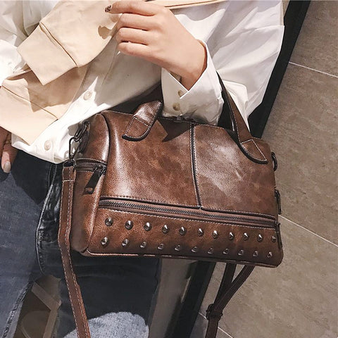 Handbag Women Casual Tote Soft Leather Ladies Handbag Crossbody Messenger Bags Female Purse Shoulder High Quality