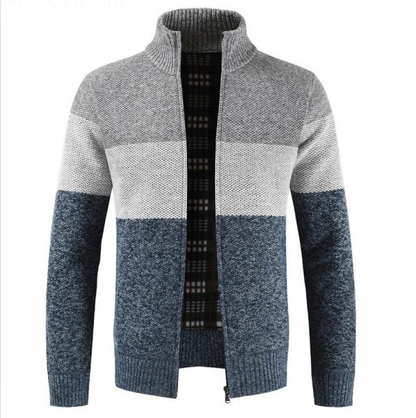New Men's Winter Casual Wool Cardigan Sweater