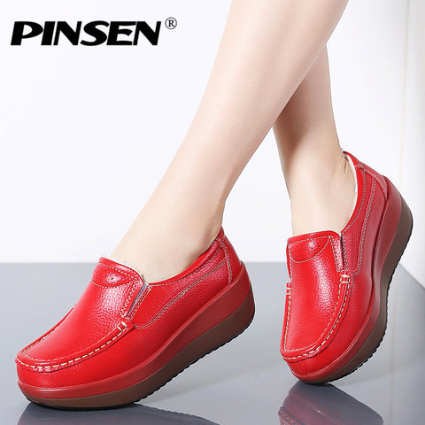 2020 Autumn Women Flat Platform Loafers Ladies Shoes